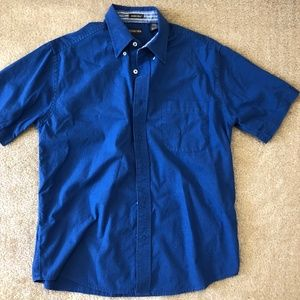 St. John's Bay Button Down Collar Shirt Med Blue